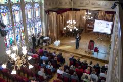 az adományozási ünnepség gyönyörű helyszíne a Nádor terem