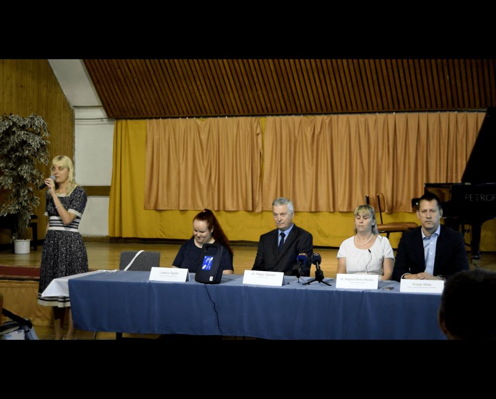 A 2019.07.16. án tartott sajtótájékoztató előadói