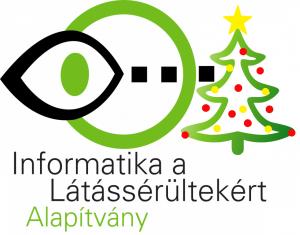 Infoalap logó karácsonyfával