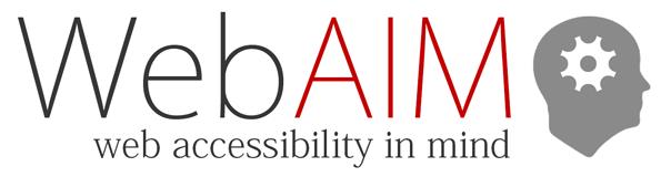 A WebAIM (Web Accessibility In Mind) logója